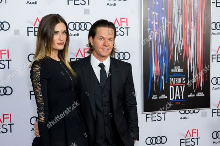 "Mark Wahlberg, right, and Rhea Durham arrive at the 2016 AFI Fest ""Patriots Day"" Special Closing Night Gala Presentation at the TCL Chinese Theatre, in Los Angeles"