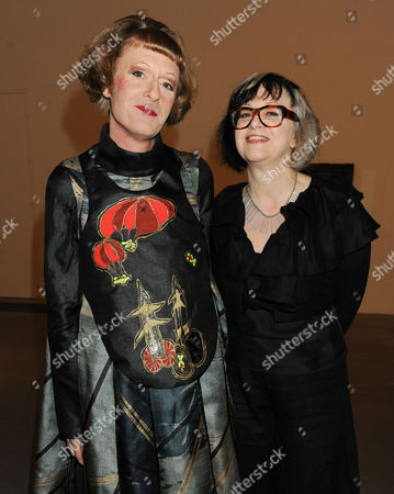 Stock Photo of Grayson Perry and wife Philippa Fairclough