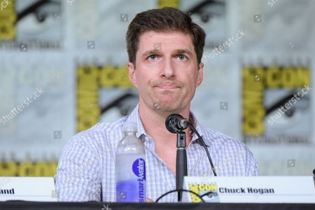 "Chuck Hogan attends the ""The Strain"" panel on day 1 of Comic-Con International, in San Diego"