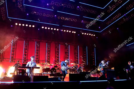 Ben Lovett, from left, Marcus Mumford, Winston Marshall and Ted Dwane of the band Mumford & Sons perform on Day 4 of the 2016 Firefly Music Festival at The Woodlands, in Dover, Del