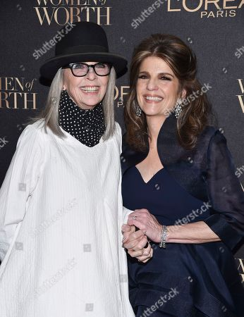 Actress Diane Keaton, left, and L'Oreal Paris president Karen Fondu attend the 2016 L'Oreal Women of Worth Awards at The Pierre Hotel, in New York