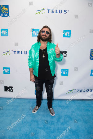 Coleman Hell arrives at WE Day, in Toronto