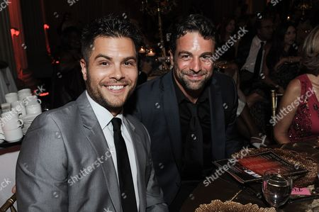 Erik Valdez, left, and Chris McKenna attend the 5th Annual Face Forward Gala held at the the Millennium Biltmore Hotel on Saturday, Sept.13, 2014, in Los Angeles