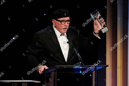 Richard Halsey accepts the career achievement award at the 64th Annual ACE Eddie Awards,, in Beverly Hills, Calif