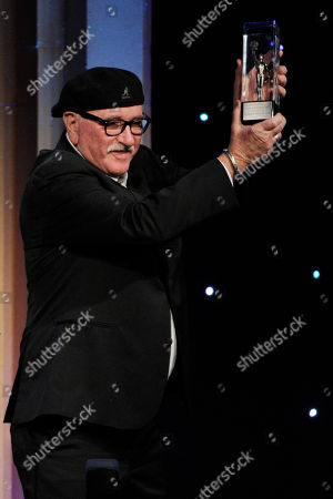 Stock Image of Richard Halsey accepts the career achievement award at the 64th Annual ACE Eddie Awards,, in Beverly Hills, Calif
