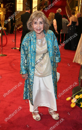 June Foray arrives at the Oscars, at the Dolby Theatre in Los Angeles