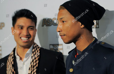 Honoree Pharrell Williams, right, and his producing partner Chad Hugo pose together at the 25th Annual ASCAP Rhythm & Soul Music Awards, in Beverly Hills, Calif