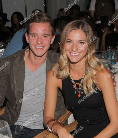 USA Soccer player Stuart Holden and Karalyn West seen at Audi Celebrates Jermaine Jones of the U.S. National Soccer Team During 2014 ESPY Weekend at Herringbone at Mondrian, in West Hollywood, California