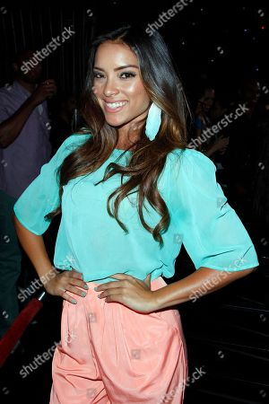 Stock Picture of Model Giulini Wever attends Suelyn Medeiros Birthday Celebration on at Playhouse Hollywood in Los Angeles, California