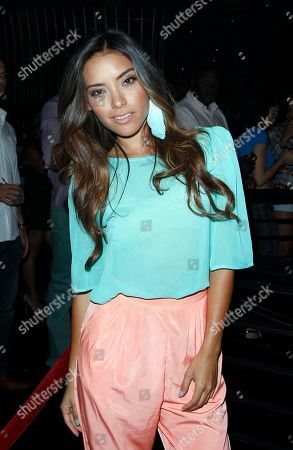 Stock Image of Model Giulini Wever attends Suelyn Medeiros Birthday Celebration on at Playhouse Hollywood in Los Angeles, California