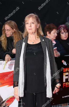 Ruth Sheen arrives for the London Film Festival premiere of Mr Turner at the Odeon West End in central London