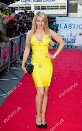 Rebecca Fernando arrives for the UK film premiere of Plastic at Central London cinema, London