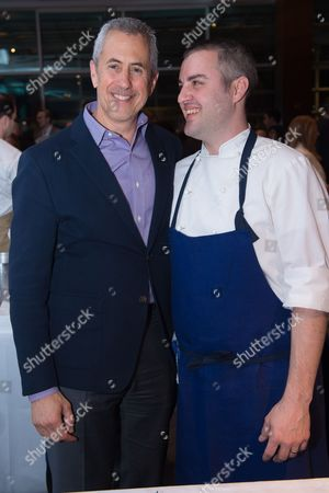Stock Image of Restaurateur Danny Meyer, left, and Chef Abram Bissell attend the Careers Through Culinary Arts Program (C-CAP) Honors Award annual benefit at Pier Sixty, in New York