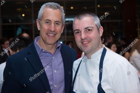 Stock Picture of Restaurateur Danny Meyer, left, and Chef Abram Bissell attend the Careers Through Culinary Arts Program (C-CAP) Honors Award annual benefit at Pier Sixty, in New York