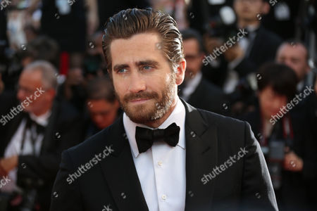 Jake Gyllenhall poses for photographers upon arrival for the screening of the film Carol at the 68th international film festival, Cannes, southern France