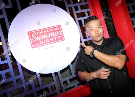Stock Image of Chef Chris Oh attends Chinatown Summer Nights, in Los Angeles