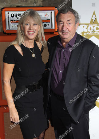 Nick Mason of Pink Floyd and wife Annette Mason arrive for the Classic Rock Roll Of Honour Awards at the Roundhouse venue in Camden, north London
