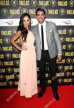 Jesse Metcalf and his guest are seen at a photocall ahead of the UK broadcast of Dallas on in London, UK