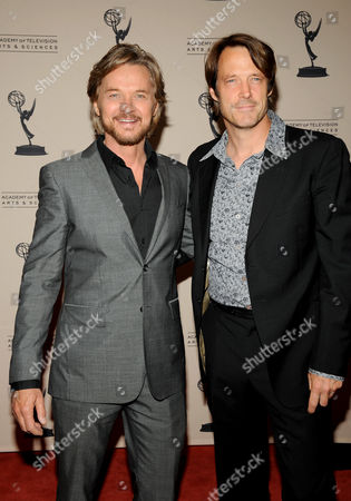 """LOS ANGELES CA - JUNE 14: (L-R) Actors Stephen Nicholas and Matthew Ashford arrives at the """"Daytime Emmy Nominee Reception Presented by the Academy of Television Arts & Sciences' Daytime Programming Peer Group"""" in the Garden Room & Terrace at the SLS Hotel at Beverly Hills on in Los Angeles, California. The 39th Daytime Entertainment Emmy Awards, presented by the National Academy, will take place on June 23, 2012 at The Beverly Hills Hotel"""