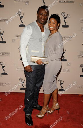 """Stock Photo of LOS ANGELES CA - JUNE 14: Nominee Sean Blakemore (L) and wife Nadia Blakemore arrive at the """"Daytime Emmy Nominee Reception Presented by the Academy of Television Arts & Sciences' Daytime Programming Peer Group"""" in the Garden Room & Terrace at the SLS Hotel at Beverly Hills on in Los Angeles, California. The 39th Daytime Entertainment Emmy Awards, presented by the National Academy, will take place on June 23, 2012 at The Beverly Hills Hotel"""