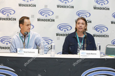 """Producer Brad Foxhoven and Director/Writer/Executive Producer Kevin Munroe seen at Gramercy Pictures """"Ratchet & Clank"""" Wondercon Presentation at Los Angeles Convention Center, in Los Angeles, CA"""
