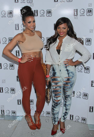 Masika Kalysha, left, and Teairra Mar� seen at Interscope Records Pre Party at the W Hotel Hollywood, in Los Angeles, Calif