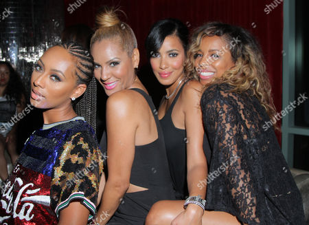 Stock Picture of Keri Hilson, Nikki Chu, Julissa Bermudez and Kiyah Wright seen at Interscope Records Pre Party at the W Hotel Hollywood, in Los Angeles, Calif