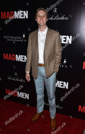 Aaron Staton arrives at the Mad Men Cast and Crew Wrap Party presented by Johnnie Walker and Brooks Brothers at The Roosevelt Hotel, in Los Angeles