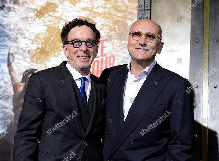 """Stock Photo of Producer Mark Canton, left, and producer Gianni Nunnari attend the premiere for the feature film """"300: Rise of an Empire"""" at TCL Chinese Theatre on in Los Angeles"""