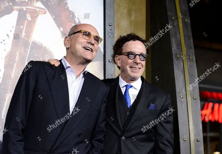 """Producer Mark Canton, left, and producer Gianni Nunnari attend the premiere for the feature film """"300: Rise of an Empire"""" at TCL Chinese Theatre on in Los Angeles"""