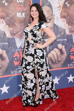 """Samantha Bogach attends the LA Premiere of """"All The Way"""" held at Paramount Pictures Studios, in Los Angeles"""
