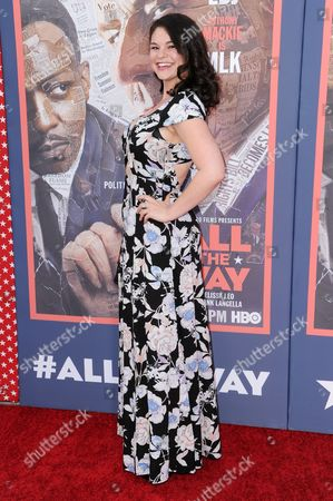 """Stock Photo of Samantha Bogach attends the LA Premiere of """"All The Way"""" held at Paramount Pictures Studios, in Los Angeles"""