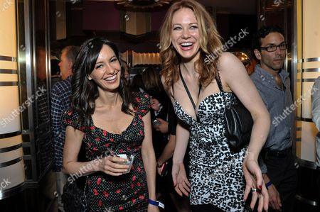 """Charlene Amoia, left, and Maitland Ward attend the after party for the LA Premiere of """"Authors Anonymous"""", in Los Angeles"""