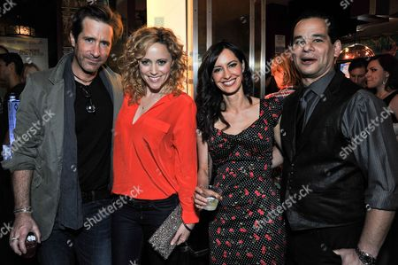 """From left, Richard Gunn, Annie Tedesco, Charlene Amoia, and Hal Schwartz attend the after party for the LA Premiere of """"Authors Anonymous"""", in Los Angeles"""
