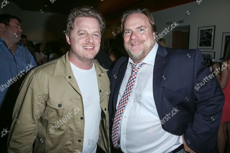 "Skyler Stone, left, and Kevin Farley attend the after party for the LA Premiere of ""I Am Chris Farley"" at the Linwood Dunn Theater, in Los Angeles"