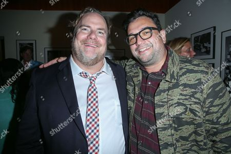 "Kevin Farley, left, and Horatio Sanz attend the after party for the LA Premiere of ""I Am Chris Farley"" at the Linwood Dunn Theater, in Los Angeles"