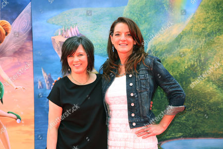 "Director Peggy Holmes, left, and Producer Jenni Magee Cook arrive at LA Premiere of ""The Pirate Fairy"", in Burbank, Calif"
