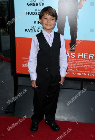 Pierce Gagnon arrives at the Los Angeles premiere of 'Wish I Was Here' at the Directors Guild of America Theater on