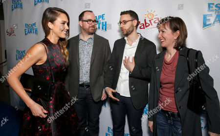 """Jessica Alba and Director Cal Brunker, Co-Writer Bob Barlen and Producer Catherine Winder attend the LA premiere of """"Escape from Planet Earth"""" at the Chinese Theater on Saturday, Feb. 2,2013 in Hollywood"""