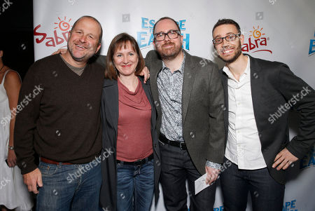 """Weinstein President of Production and Acquisitions Dylan Sellers, Producer Catherine Winder, director Cal Brunker and Co-Writer Bob Barlen attend the LA premiere of """"Escape from Planet Earth"""" at the Chinese Theater on Saturday, Feb. 2,2013 in Hollywood"""