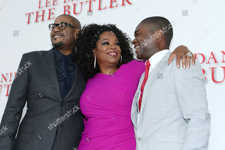 Forest Whitaker, Oprah Winfrey and Stephen Rider at The Los Angeles Premiere of 'The Butler', on in Los Angeles
