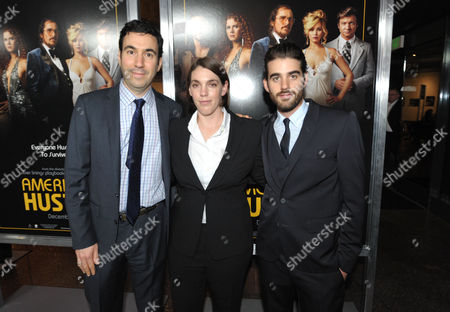"Jonathan Gordon, Megan Ellison, and Matthew Budman attend the LA special screening of ""American Hustle"", on in Los Angeles"