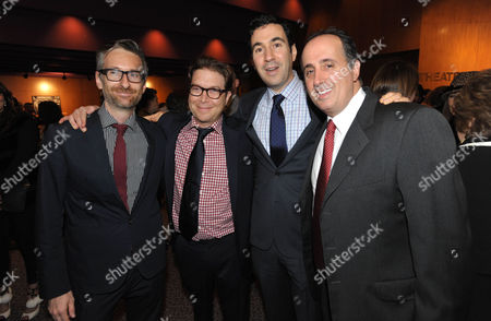 "Michael Wilkinson, Eric Warren Singer, Jonathan Gordon, and Richard Suckle attend the LA special screening of ""American Hustle"", on in Los Angeles"