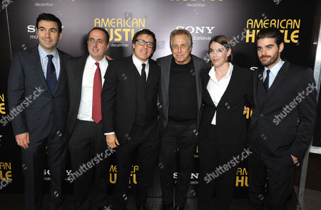 "Producers Jonathan Gordon, Richard Suckle, producer/director/writer David O. Russell, producers Charles Roven, Megan Ellison and executive producer Matthew Budman attend the LA special screening of ""American Hustle"", on in Los Angeles"