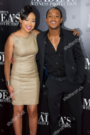 "Cymphonique Miller and Romeo Miller attend the premiere of ""Tyler Perry's Madea's Witness Protection"" on in New York"
