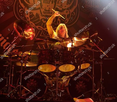 Mikkey Dee of the band Motörhead performs in concert during their Bad Magic Tour 2015 at the Tower Theater, in Upper Darby, Pa