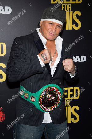 """Vinny Paz attends the premiere of """"Bleed For This"""" hosted by Open Road and Men's Fitness at AMC Loews Lincoln Square, in New York"""