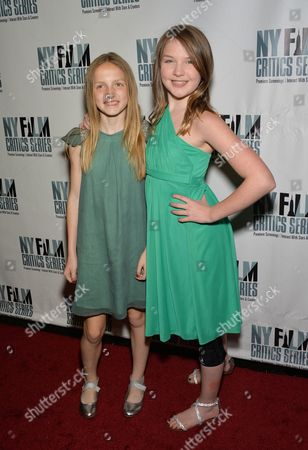 """Actors Eva Grace Kellner, left, and Brynne Norquist attend the New York Film Critics Series screening of """"Every Secret Thing"""" at the AMC Empire 25, in New York"""