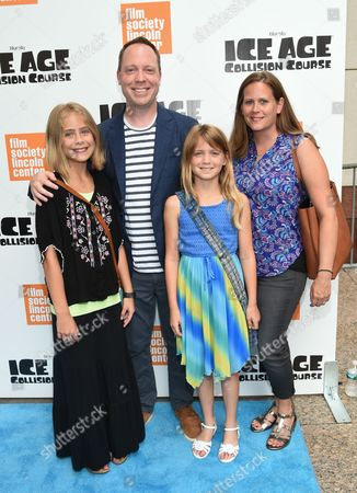 """Director Michael Thurmeier and family attend a special screening of, """"Ice Age: Collision Course"""", at the Walter Reade Theater, in New York"""