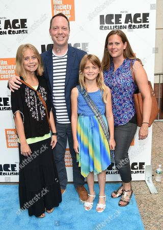 """Stock Photo of Director Michael Thurmeier and family attend a special screening of, """"Ice Age: Collision Course"""", at the Walter Reade Theater, in New York"""